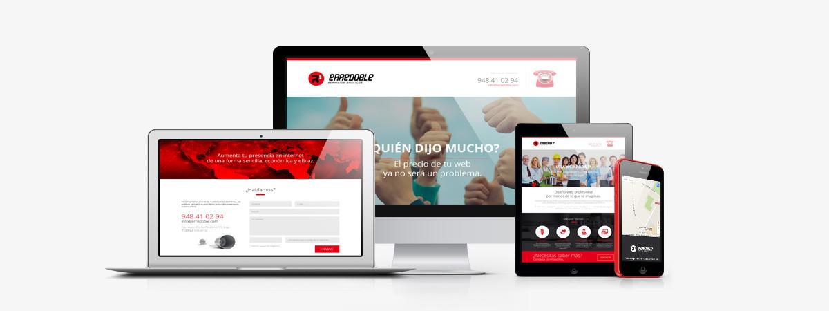 ejemplo de diseño web responsive de erredoble diseño gráfico