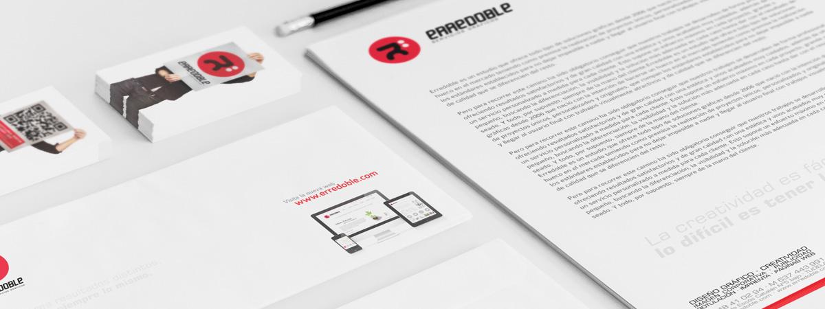 diseño de papelería corporativa de erredoble diseño gráfico